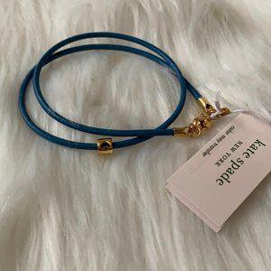 KATE SPADE Leather Wrap Bracelet in Blue